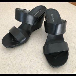 Calvin Klein wedge platforms, size 8